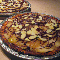 Chocolate Apple Pie with Nut Crust