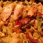 Macaroni with Grilled Veggies and Chicken