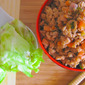Minced Pork In Lettuce Wrap