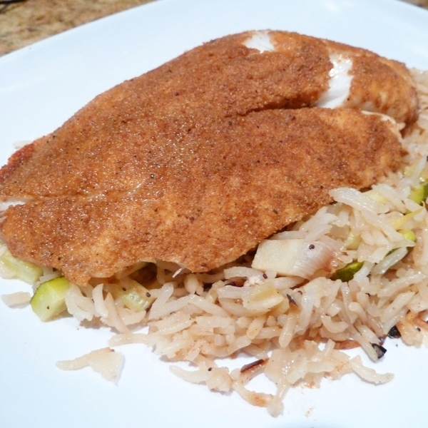Fish with spice rub and lemony rice recipe by nancy for Summer fish and rice