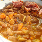 Beans with smoked pork hock