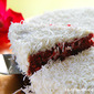Red Velvet Coconut Cake