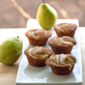 Pear and Vanilla Muffins