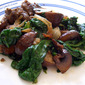 Venison with Mushrooms and Spinach