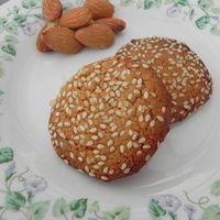 Image of Almond Flour Cookies Using Sesame Seeds Recipe, Cook Eat Share