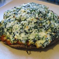 Cheesy Spinach Stuffed Portobellos