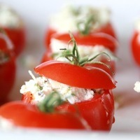 Ricotta-Portabella Stuffed Tomatoes