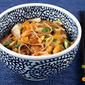 Recipe for vegan Napa cabbage soba with spicy peanut sauce