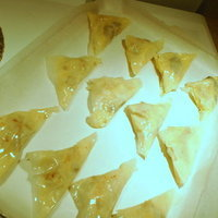 CHOCOLATE APPLE NUT Phyllo triangle pockets