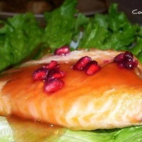 Pan-Fried Salmon with Pomegranate-Orange Sauce