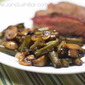Balsamic Mushrooms and Green Beans