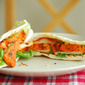 Tandoori Chicken Pita pockets served with cooling mint-cucumber yogurt