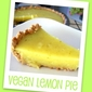 (Almost) Fat-free Vegan Lemon Pie
