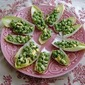 Pea Salad in Endive Cups