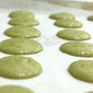 Matcha Macarons with Sour Cream Chocolate Ganache