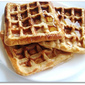 Eggless Sugarfree Wholewheat & Barley Waffles
