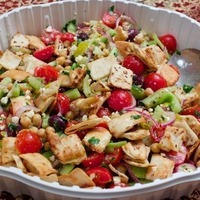 Image of Greek Bread Salad Recipe, Cook Eat Share