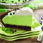 St Patrick Day Minty Chocolate Pie