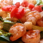 Shrimp & Scallops Salad in Wine Reduction Sauce
