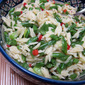 Orzo and Green Bean Pilaf