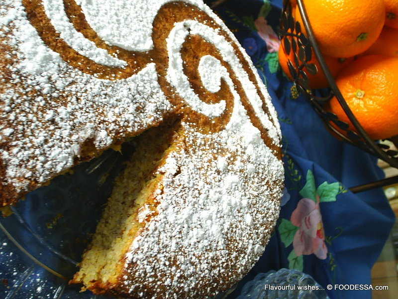 ORANGE spice ALMOND flourless torte cake Recipe by Claudia ...