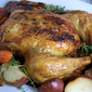 Roasted Chicken with Red Bliss Potatoes, Carrots, and Onions