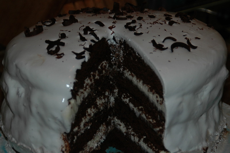 Devil's Food Cake with Peppermint Frosting Recipe by Aspen ...
