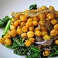 Roasted Chickpeas and Collard Greens