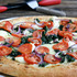White Pizza with Spinach and Tomatoes