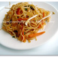 Stir Fried Sprouts & Veggies Spaghetti (Chinese Style)