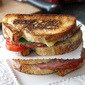 Grilled Cheese Sandwich with Jarlsberg Fondue, Ham & Tomato Recipe