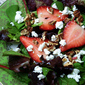 Strawberry, Goat Cheese, Spinach Salad with Raspberry Vinaigrette