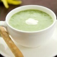 Image of Asparagus Soup With Lemon Creme Fraiche Recipe, Cook Eat Share