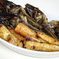 Roasted Artichokes and Parsnips