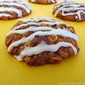Oatmeal Applesauce Cookies with Maple Syrup Icing