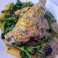Rabbit with Mustard , Leek and Wild Garlic Sauce