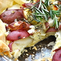 rosemary potato tart