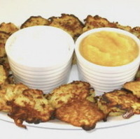 Skinny Mini Passover Potato Pancakes Appetizer