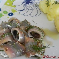 Image of Alici Marinate Con La Birra Al'aneto Con Le Patate Novelle Recipe, Cook Eat Share