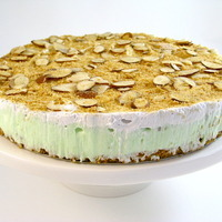 Image of A Yummy Pistachio Almond Pudding Pie Perfect For Easter Recipe, Cook Eat Share