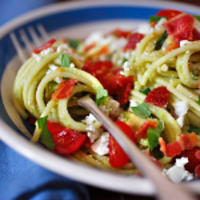 Image of Pasta With Fresh Tomato Avocado Sauce Recipe, Cook Eat Share