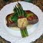 Prosciutto Wrapped Asparagus with Sage Infused Sour Cream