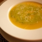 Roasted Acorn Squash Soup with Spinach Pesto Cream