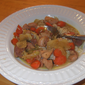 Green Curry Chicken with Carrots and Cabbage