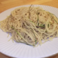 Spaghetti with Green Garlic and Olive Oil from Fine Cooking Magazine, April 2011
