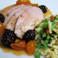 Pork Tenderloin with Kumquat and Blackberry Sauce
