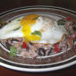 Rice and Beans with Fried Eggs from Fine Cooking Magazine, April/May 2011
