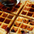 Blueberry Waffles with Maple Syrup (Sugar and Gluten Free)