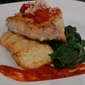 10/29/09 Parmesean Crusted Swordfish w Roasted Potatoes and Spinach