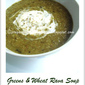 Greens & Wheat Rava Soup
